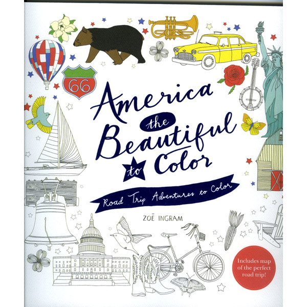 Just for Kids America the Beautiful Coloring Book by Zoe Ingram PB