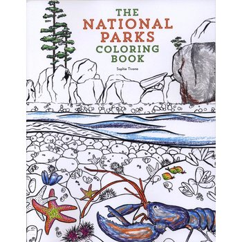 Just for Kids The National Parks Coloring Book by Sophie Tivona PB