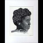 Americana Barbara Jordan Matted  11.5x14 Print
