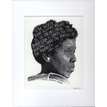 Civil Rights Barbara Jordan Matted  11.5x14 Print