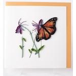 Lady Bird Johnson Monarch Quilling Card