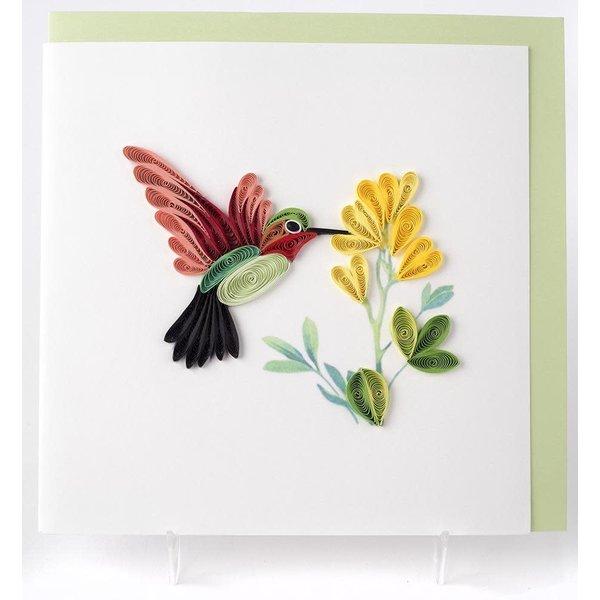 Lady Bird Johnson Hummingbird Quilling Card