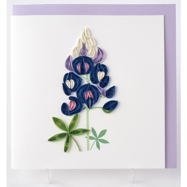 Lady Bird Bluebonnets Quilling Card