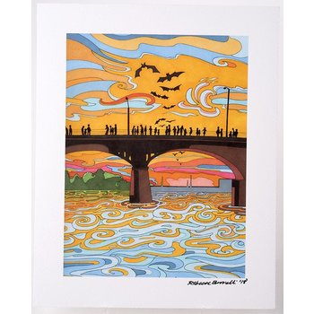 Austin & Texas Congress Bridge 8x10 Print by Becca Borrelli