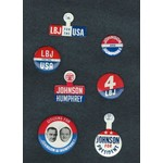 All the Way with LBJ Original LBJ Campaign Button Collection 1
