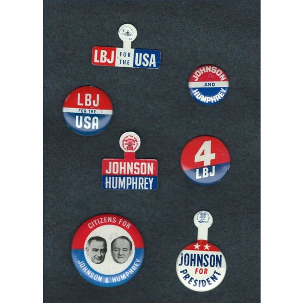 All the Way with LBJ Orginal LBJ Campaign Button Collection 1