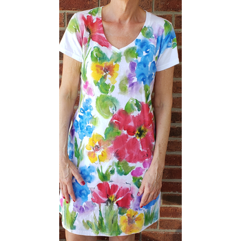 Lady Bird Painted Wildflower Dress