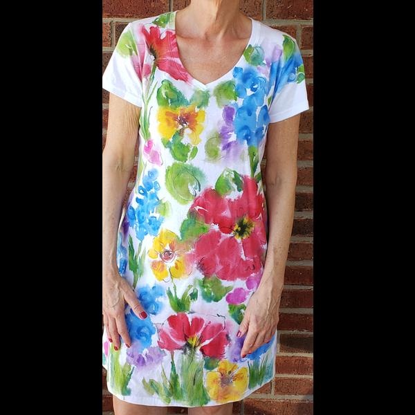 Lady Bird Johnson Painted Wildflower Dress