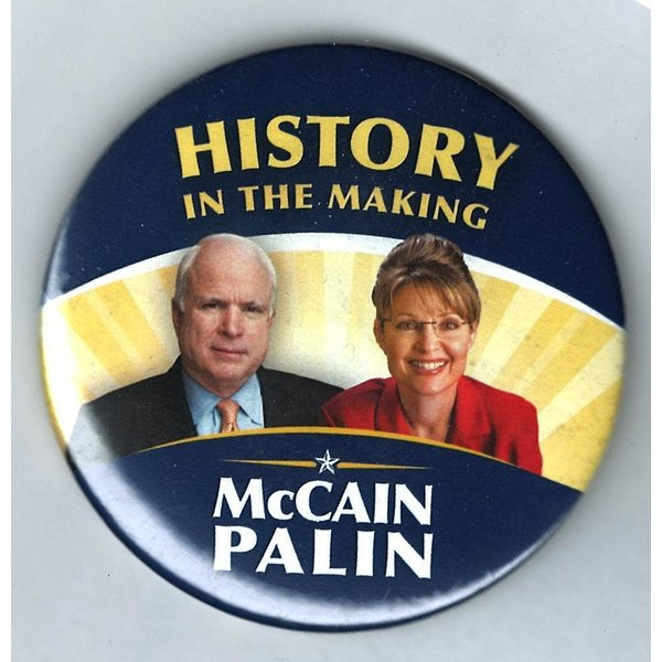 History In The Making McCain Palin 3""