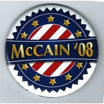 McCain 08 Red/White Stripes, Gold Stars3""