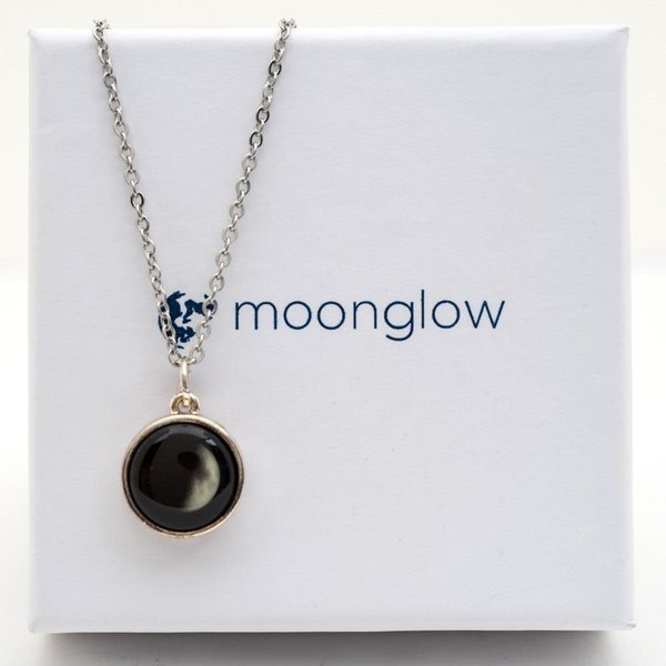 3D 4th Qtr Waning Moon Necklace