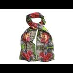 Lady Bird Johnson Pressed Flower Cotton Flowers Cotton Scarf 10x70
