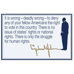 All the Way with LBJ Right To Vote Postcard