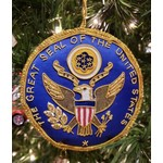 Holiday Presidential Seal Satin Ornament w/LBJ Presidential LIbrary