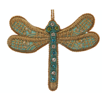 Lady Bird Dragonfly Turquoise Satin Ornament