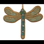 Lady Bird Johnson Dragonfly Turquoise Satin Ornament