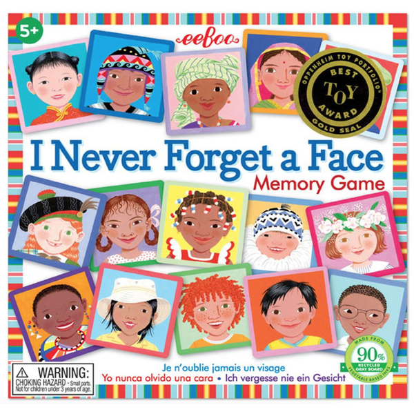 Just for Kids I Never Forget A Face Memory Game
