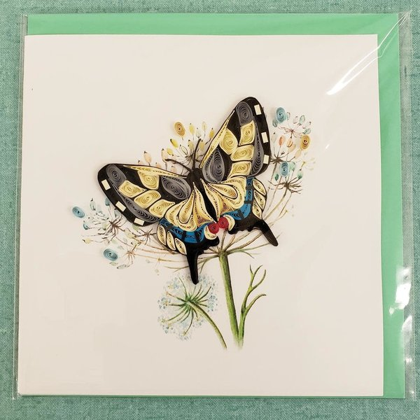 Lady Bird Johnson Swallowtail Butterfly Quilling Card