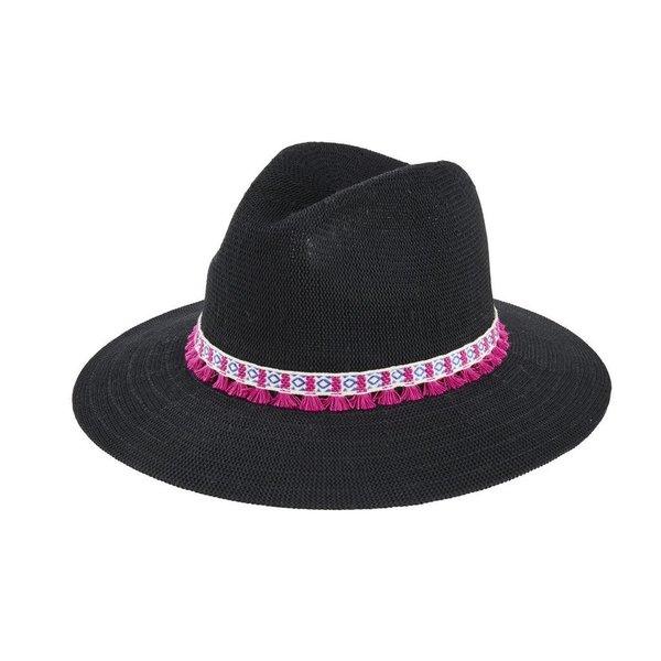 Sale sale-Knit Fedora w/Tassels