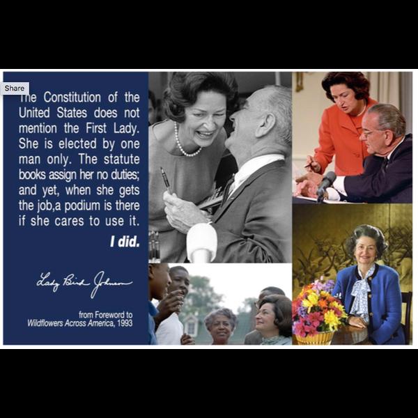 Lady Bird Johnson First Lady, Lady Bird Johnson Postcard