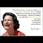 Lady Bird Johnson Where Flowers Bloom Postcard
