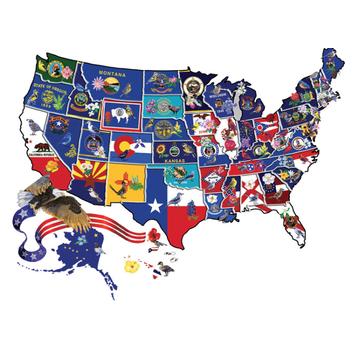 Just for Kids America the Beautiful 600 pc Shaped Puzzle