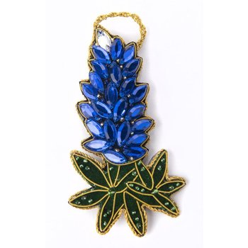 Lady Bird Bluebonnet Jeweled Ornament