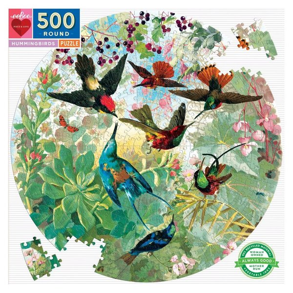 Just for Kids Hummingbirds 500pc Round Puzzle