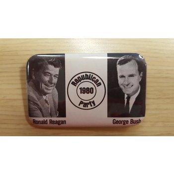 Republican 1980 Party Reagan Bush campaign button