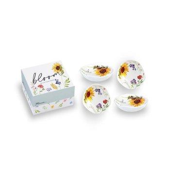 Lady Bird Johnson Bloom Dipping Dish s/4 boxed