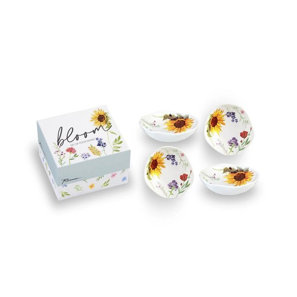 Lady Bird Bloom Dipping Dish s/4 boxed