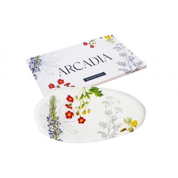 Lady Bird Johnson Arcadia Platter 18x9 boxed