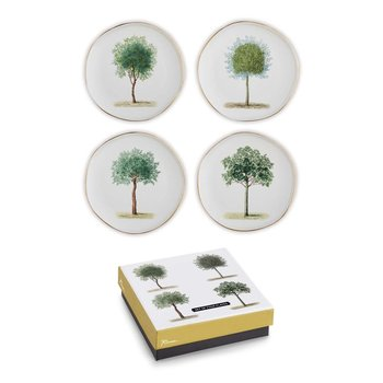 Lady Bird Johnson Lithographie Tree Plates s/4 boxed