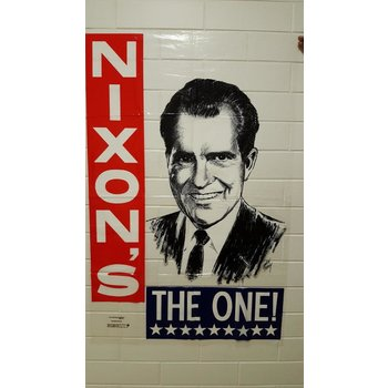 """Large """"Nixon's The One"""" Plastic Campaign Poster"""