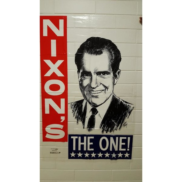 "Large ""Nixon's The One"" Plastic Campaign Poster"