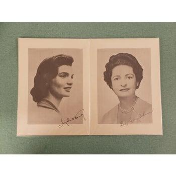 Lady Bird Johnson Reception for Distinguished Ladies 1961 Inaugural Invitation