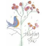 Lady Bird Johnson Songbird Thinking of You Blank Card