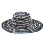 Sale sale-Space Dye Crochet Sun Hat blue