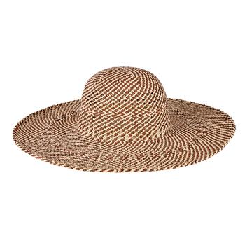 Sale sale-Open Weave Round Crown Floppy Hat Nat