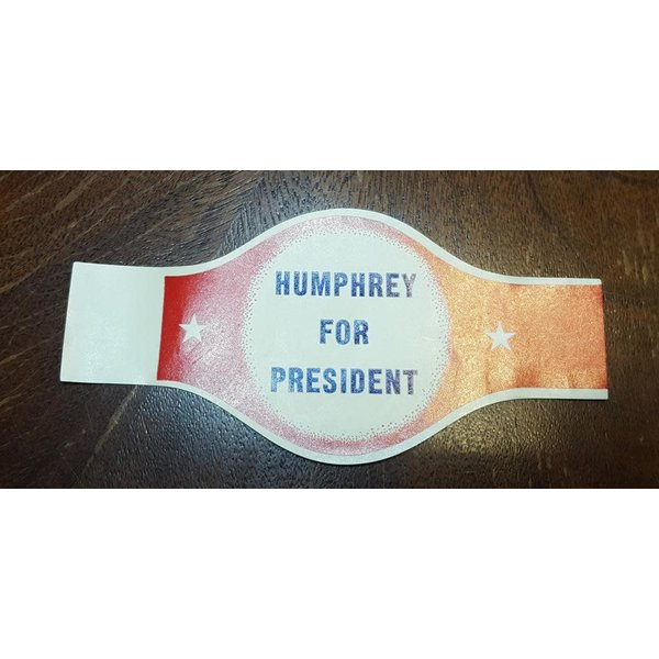 Humphrey for President cigar wrapper sticker