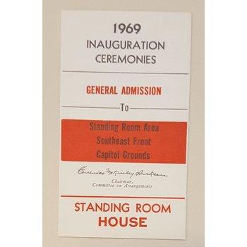 1969 Inauguration Ticket with Richard Nixon Portrait