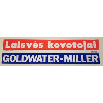 Lithuanian Goldwater-Miller Bumper Sticker