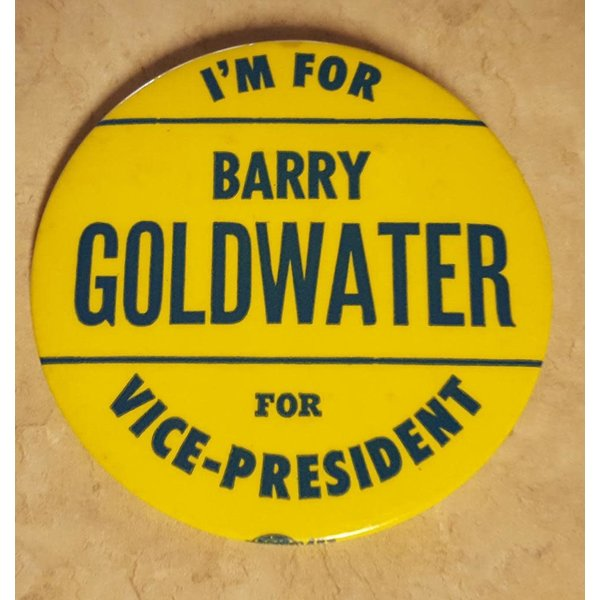 I'm for Barry Goldwater for Vice-President Campaign Button