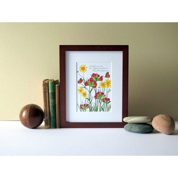 "Lady Bird Johnson ""Stuff of my heart"" Lady Bird Johnson quote wildflower 8x10 print"