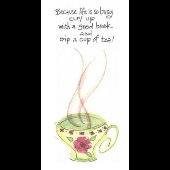 Lady Bird Life Is Busy Bookmark w/Tea