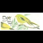 Lady Bird Johnson Enjoy Your Day Bookmark w/Tea