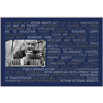 All the Way with LBJ LBJ Great Society Legislation Postcard