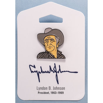 "All the Way with LBJ Lyndon Johnson 1.25"" Enamel Pin"