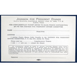 All the Way with LBJ Original Donation Request Form For Johnson For President Dinner - 1960