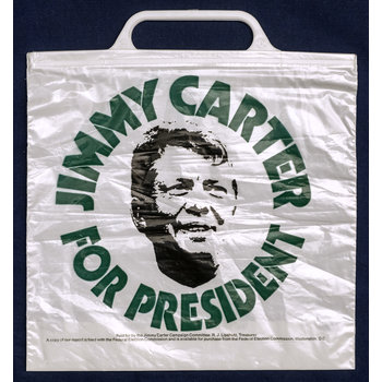 Jimmy Carter For President plastic bag